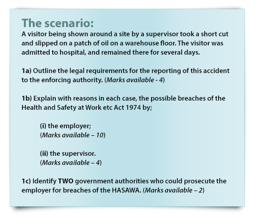 nebosh exam questions