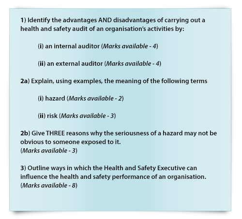 NEBOSH past exam paper questions 4
