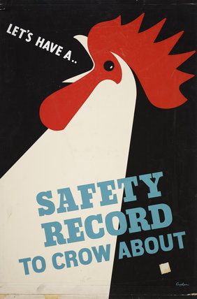Vintage RoSPA poster promoting the benefits of a good safety record.