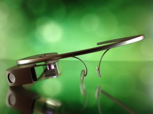 Photo of Google Glass by Dan Leveille (via Wikipedia)